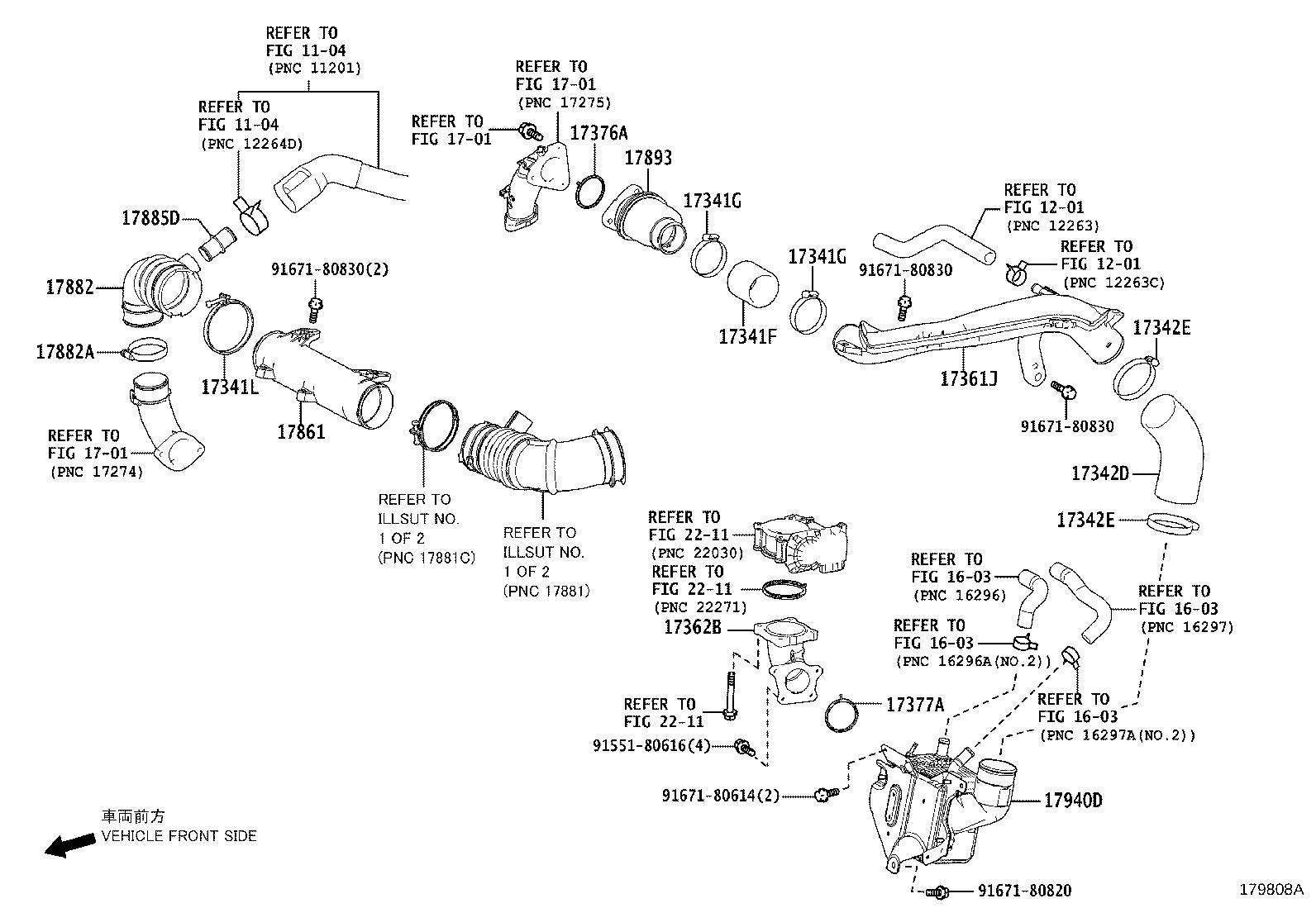 Lexus Nx 200t Cleaner Assembly Air Side