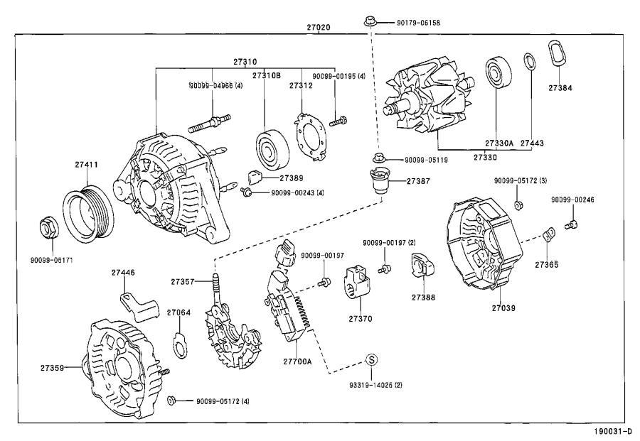 Lexus ES 300 Voltage Regulator. Regulator, Generator