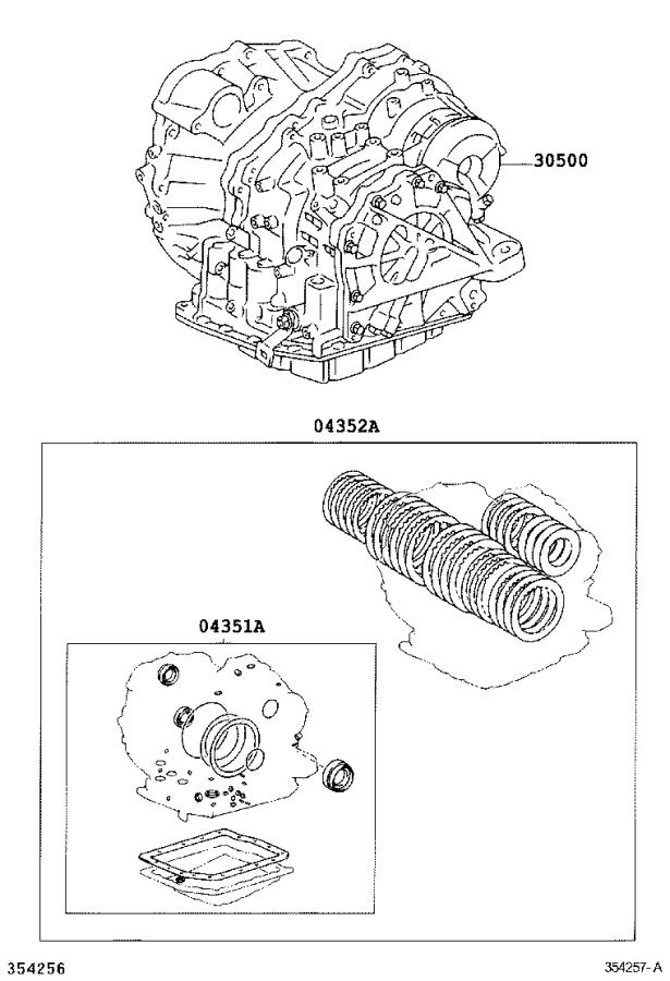 Lexus RX 330 Gasket kit, transaxle overhaul(atm