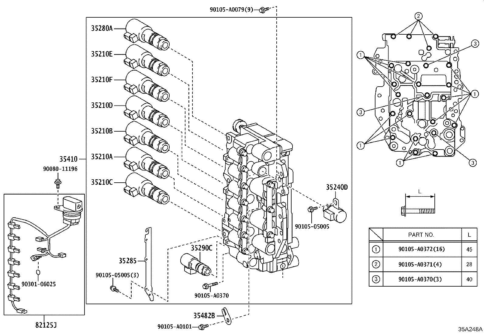 Lexus ES 350 Plate, solenoid lock. Transmission, driveline