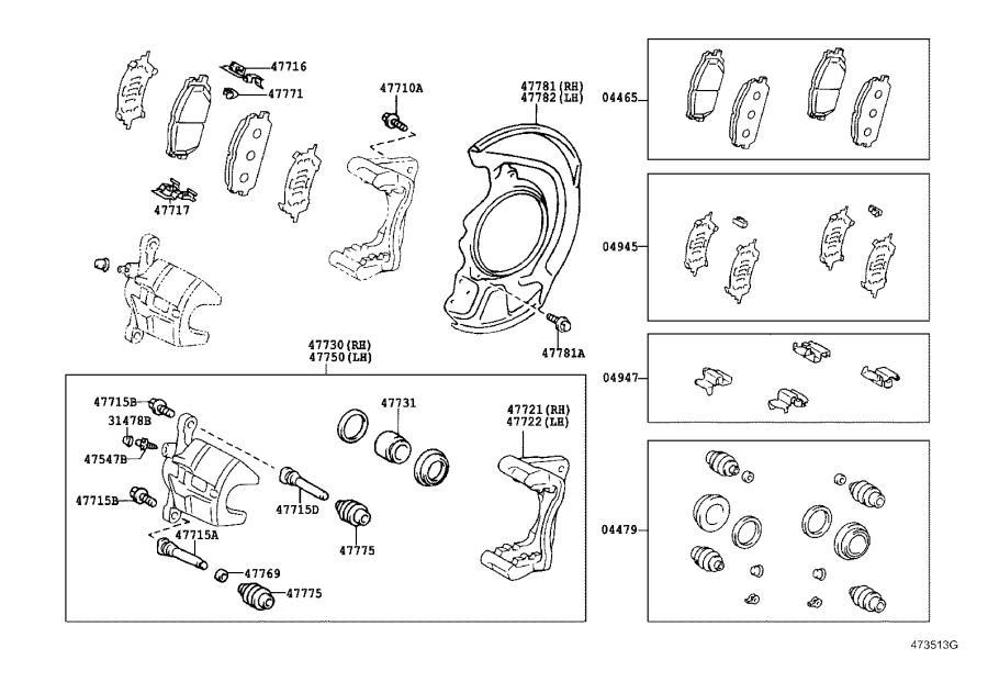 Lexus RX 330 Bolt. For front disc brake cylinder slide