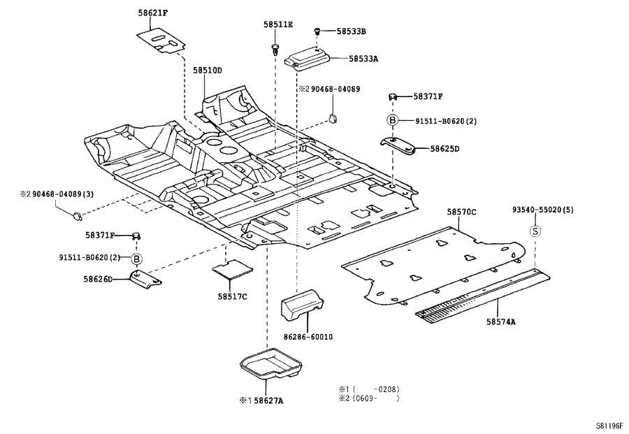 Lexus LX 470 Pad, front floor mat. Interior, body
