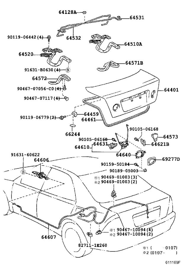 Lexus IS 300 Weatherstrip, luggage compartment door. Sed