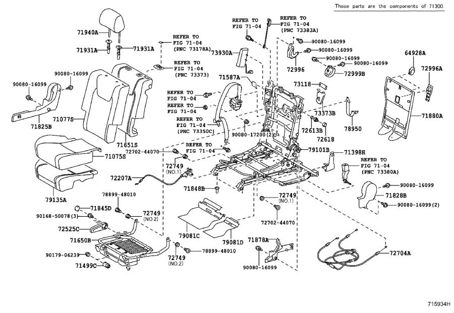 Lexus RX 350 Cover sub-assembly, center seat cushion