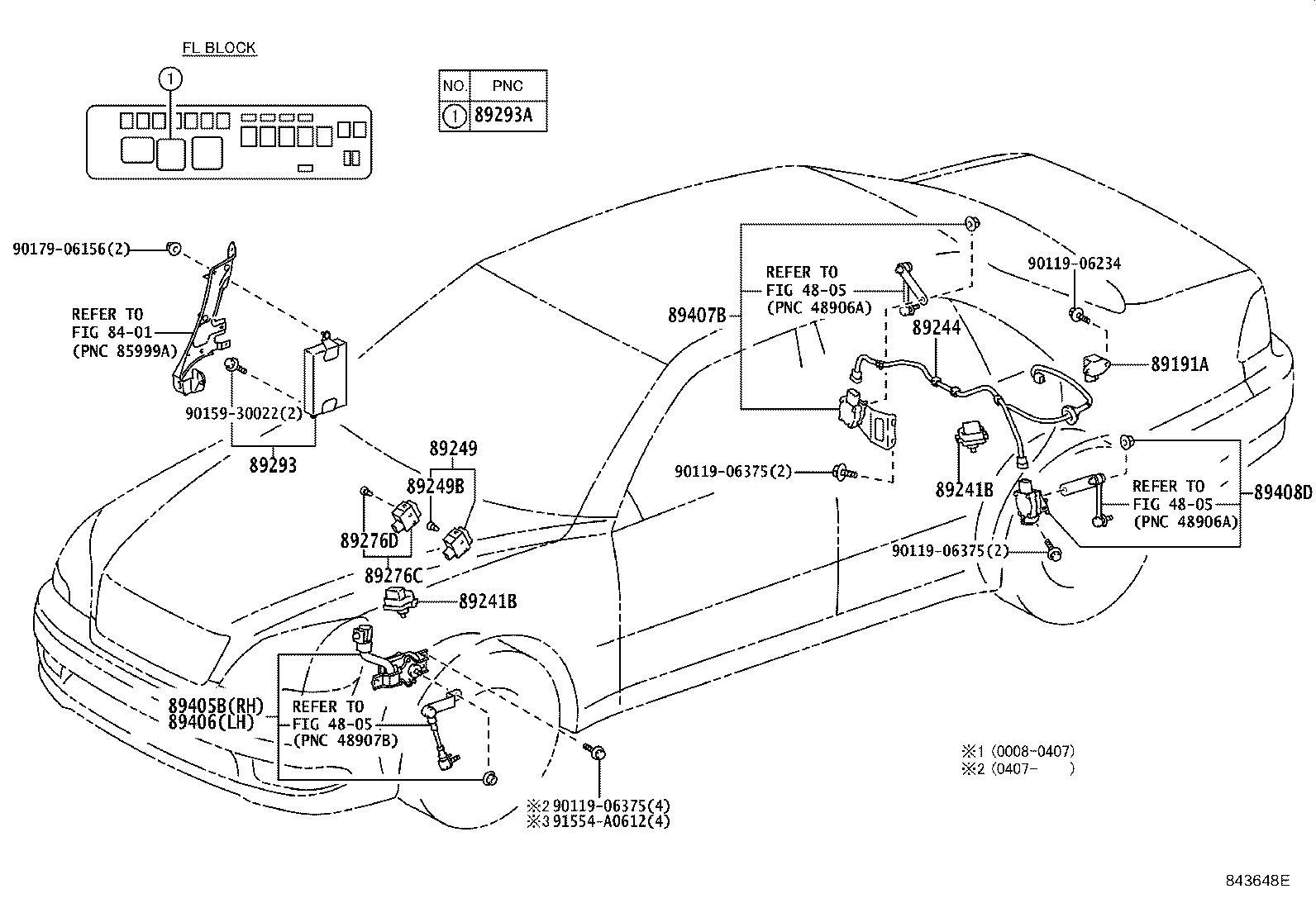 Lexus LS 430 Wire, absorber control, rear. Suspension