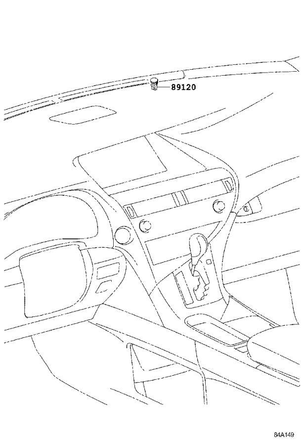 Lexus RX 350 Sensor, automatic light control. Cowl, seat