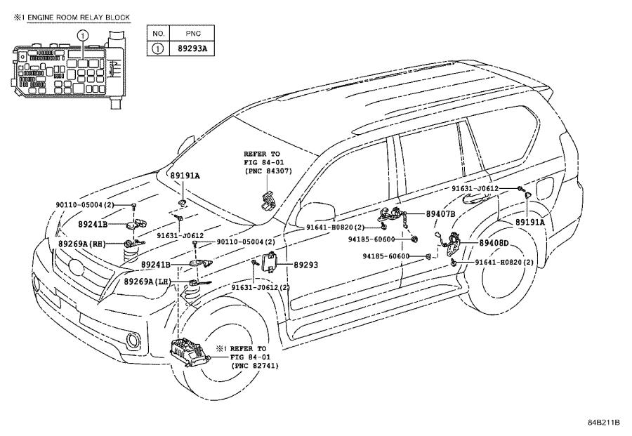 Lexus GX 460 Suspension Yaw Sensor. Electrical, Make