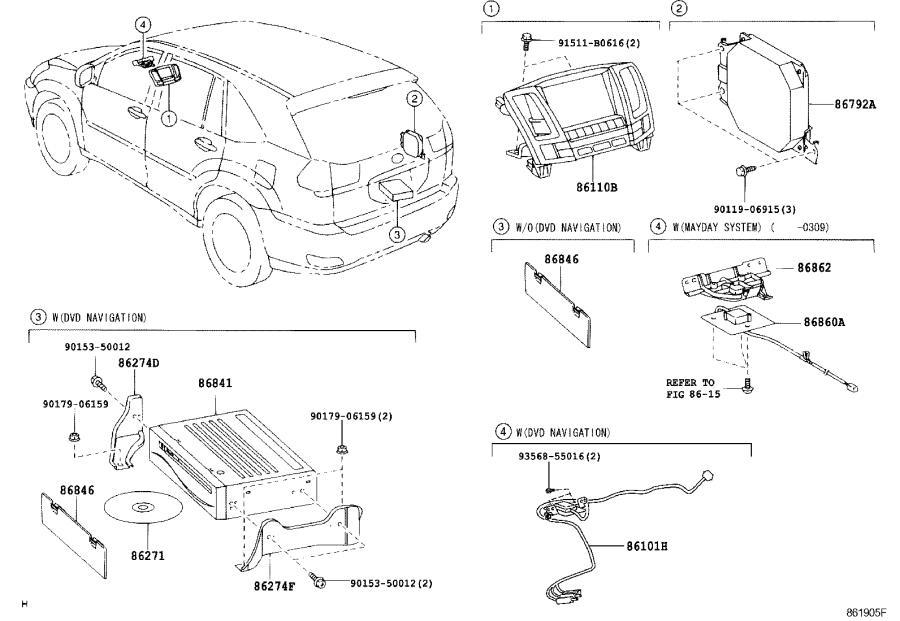 Lexus RX 350 Wire, navigation, no. 1. System, emv