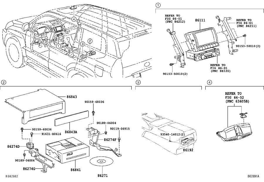 Lexus GX 470 Terminal, headphone. Rear, player, dvd