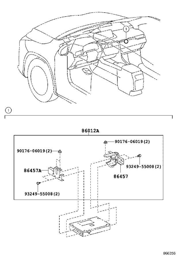 Lexus RX 350 Multi-display assembly. Pioneer, navigation