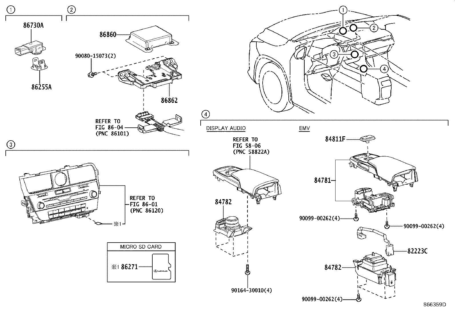 Lexus RX 350 Panel; switch. Console, upper rear; remote