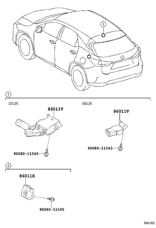 Lexus RX 350 Receiver assembly, radio. Condenser, canada