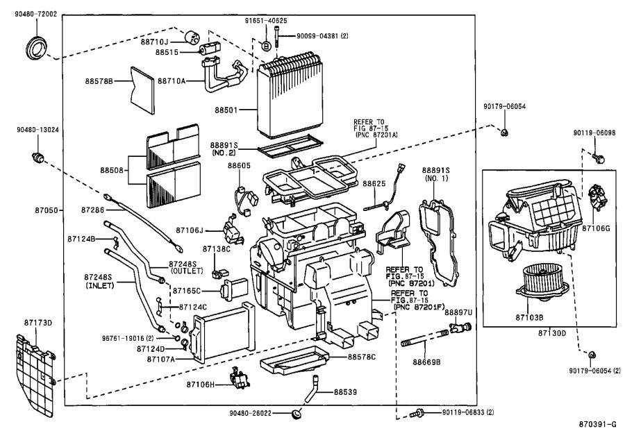 Lexus ES 300 Hvac blower motor control module (lower