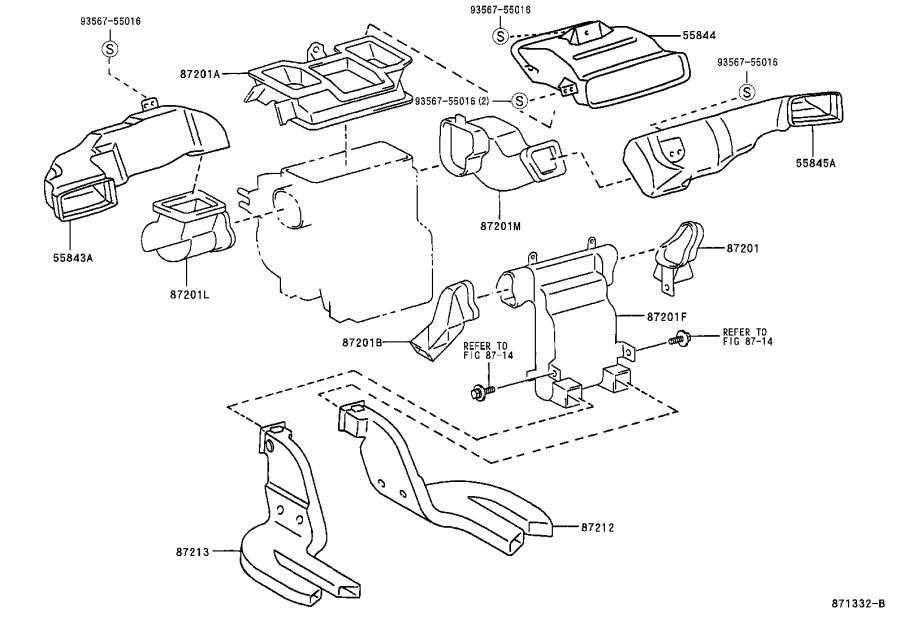 Lexus ES 300 Housing, heater control. Air, duct, manual