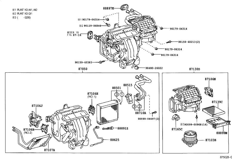 Lexus ES 300 Motor sub-assembly, blower with fan
