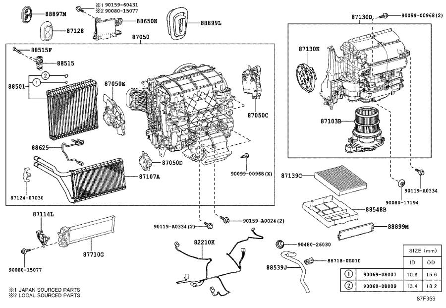 Lexus RX 450h Amplifier assembly, air conditioner