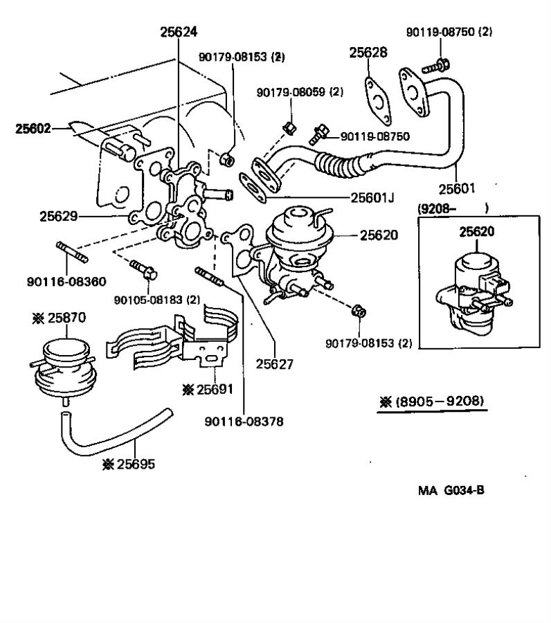 Lexus LS 400 Valve assembly, egr vacuum modulator. System