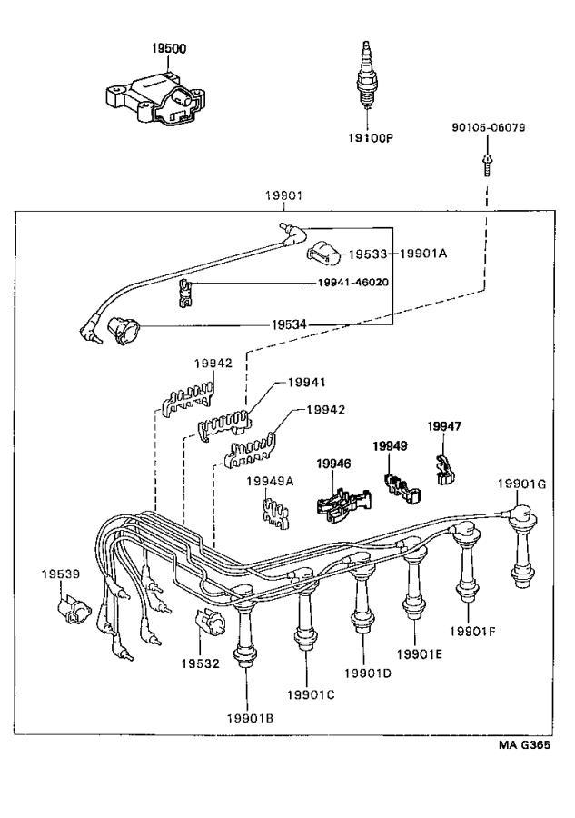 Lexus GS 300 Spark Plug Wire. Cord, Spark Plug RESISTIVE