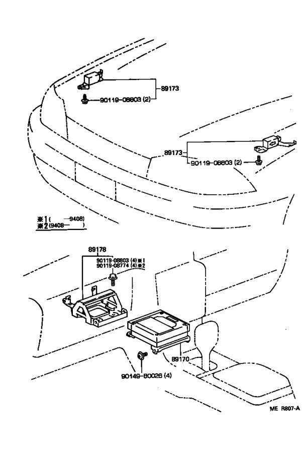 Lexus ES 300 Sensor assembly, air bag. Electrical