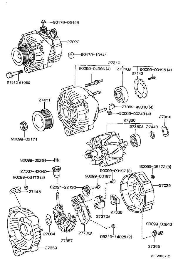 Lexus GS 300 Holder, alternator, with rectifier. Engine
