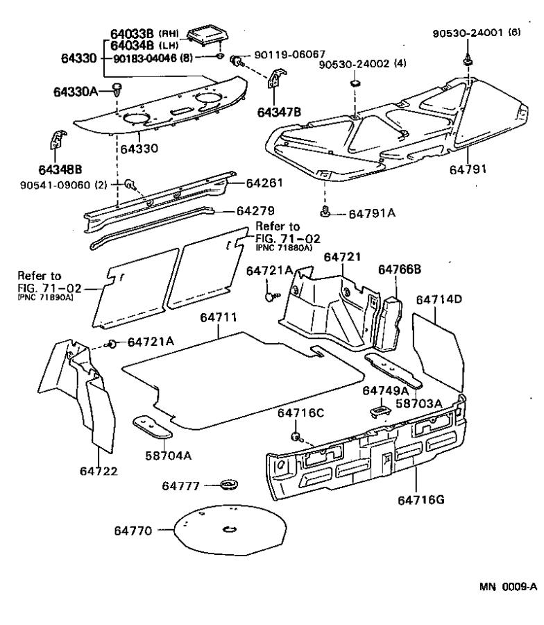Lexus ES 250 Clamp; cover sub-assembly. Spare wheel; spare