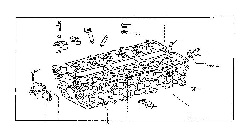 Lexus LS 400 Bush, exhaust valve guide. Engine
