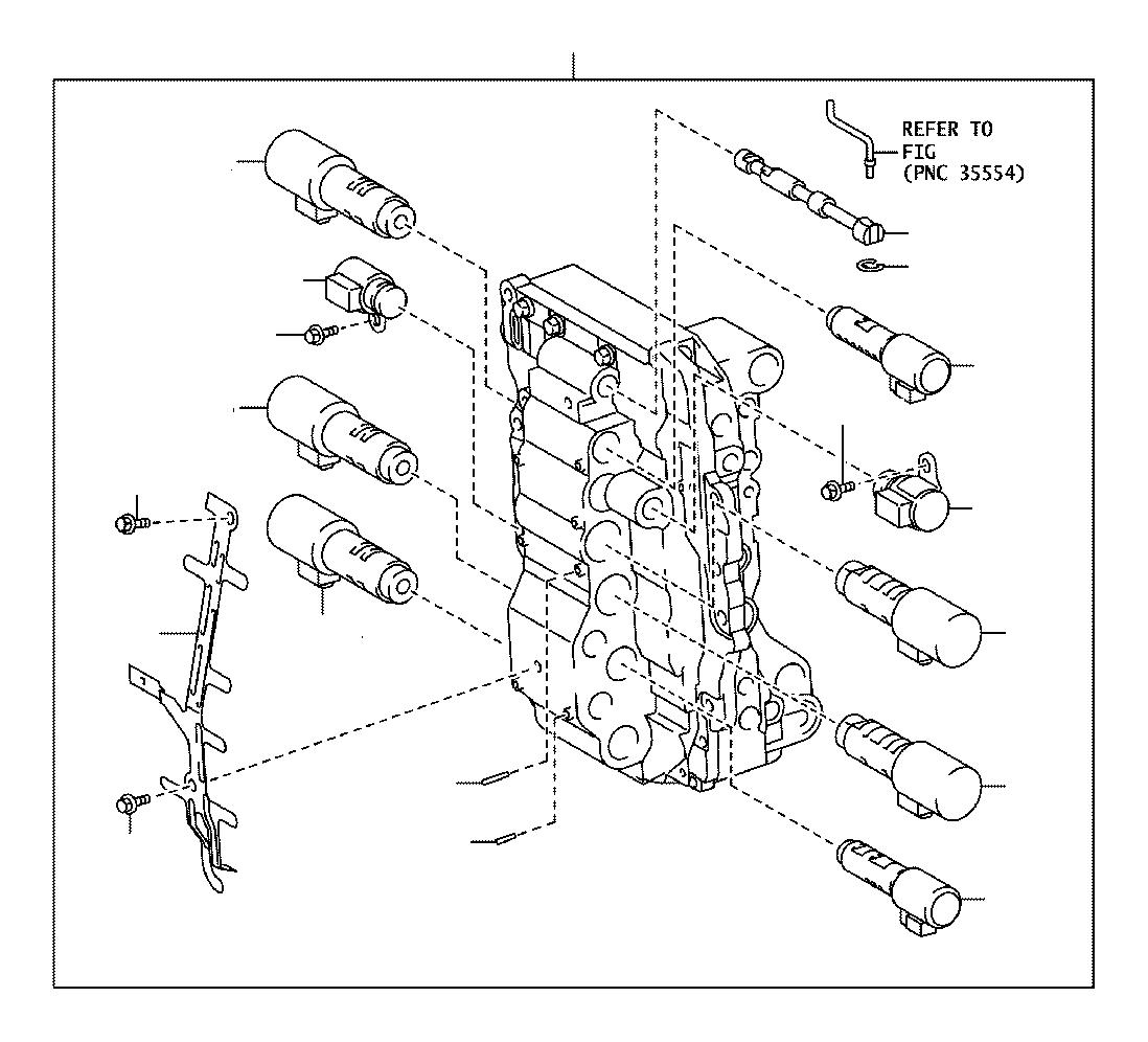 Lexus RX 350 Solenoid assembly; valve. Line pressure