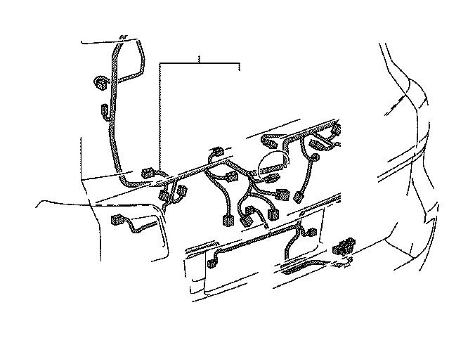 Lexus LX 570 Wire, back door, no. 2. Engine, room, box