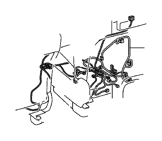Lexus GX 460 Wire, front seat, right. Panel, engine
