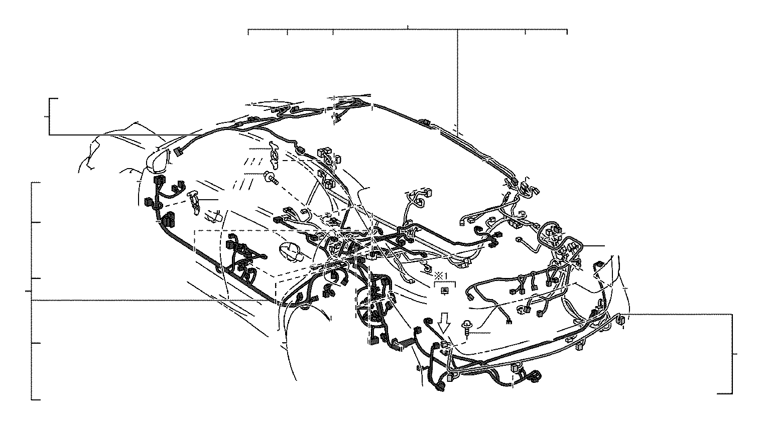 Lexus GS 350 Wire, roof, no. 1. Engine, room, connector