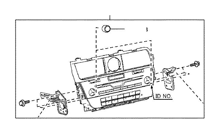 Lexus RX 350 Receiver assembly, radio. Emv, system