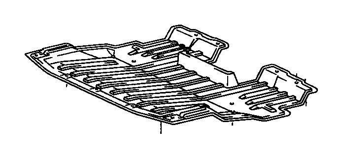 Lexus LS 400 Cover, engine under, no. 1. Suspension