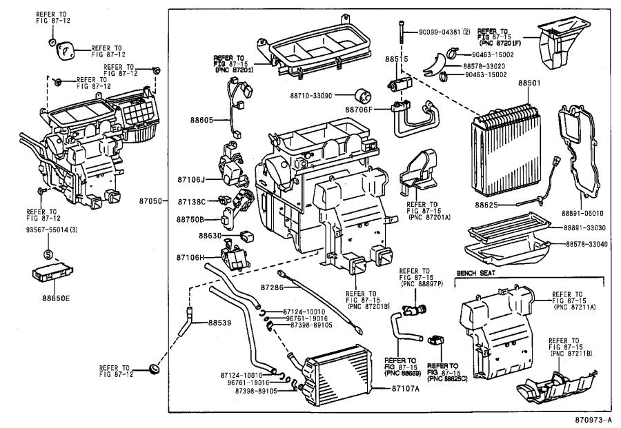 Toyota Avalon Amplifier assembly, air conditioner, no. 1