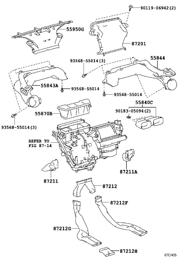 Toyota Yaris Control sub-assembly, heater, no. 3. Air