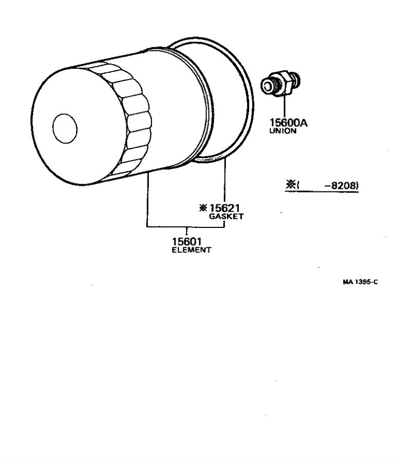 Toyota Truck Engine Oil Filter Adapter Gasket. Coolant