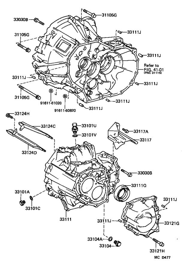 Toyota MR2 Cover sub-assembly, manual transmission case