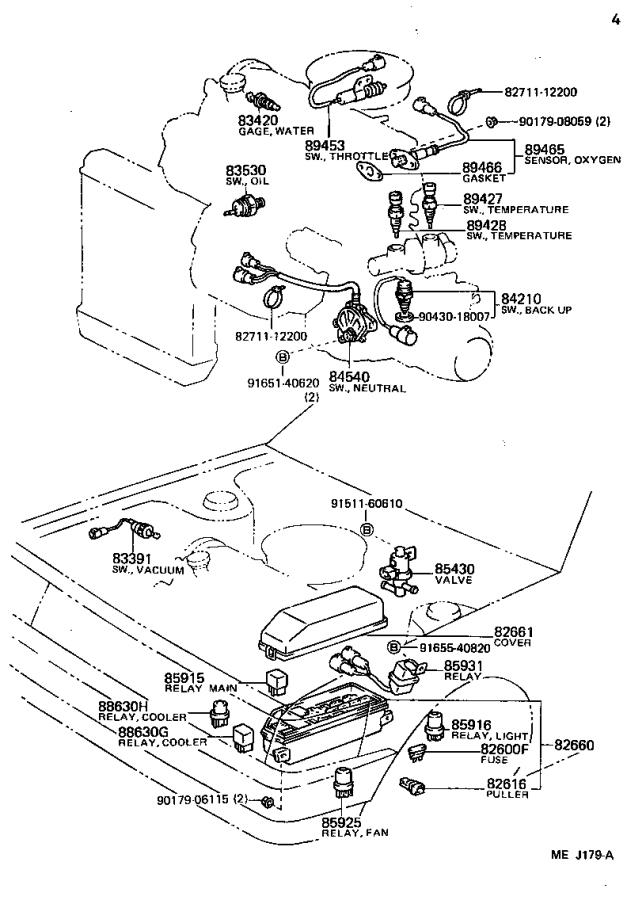 Toyota Corolla Switch assembly, turn signal. Electrical