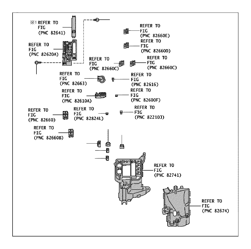 Toyota Yaris Connector, wiring harness. Engine, room
