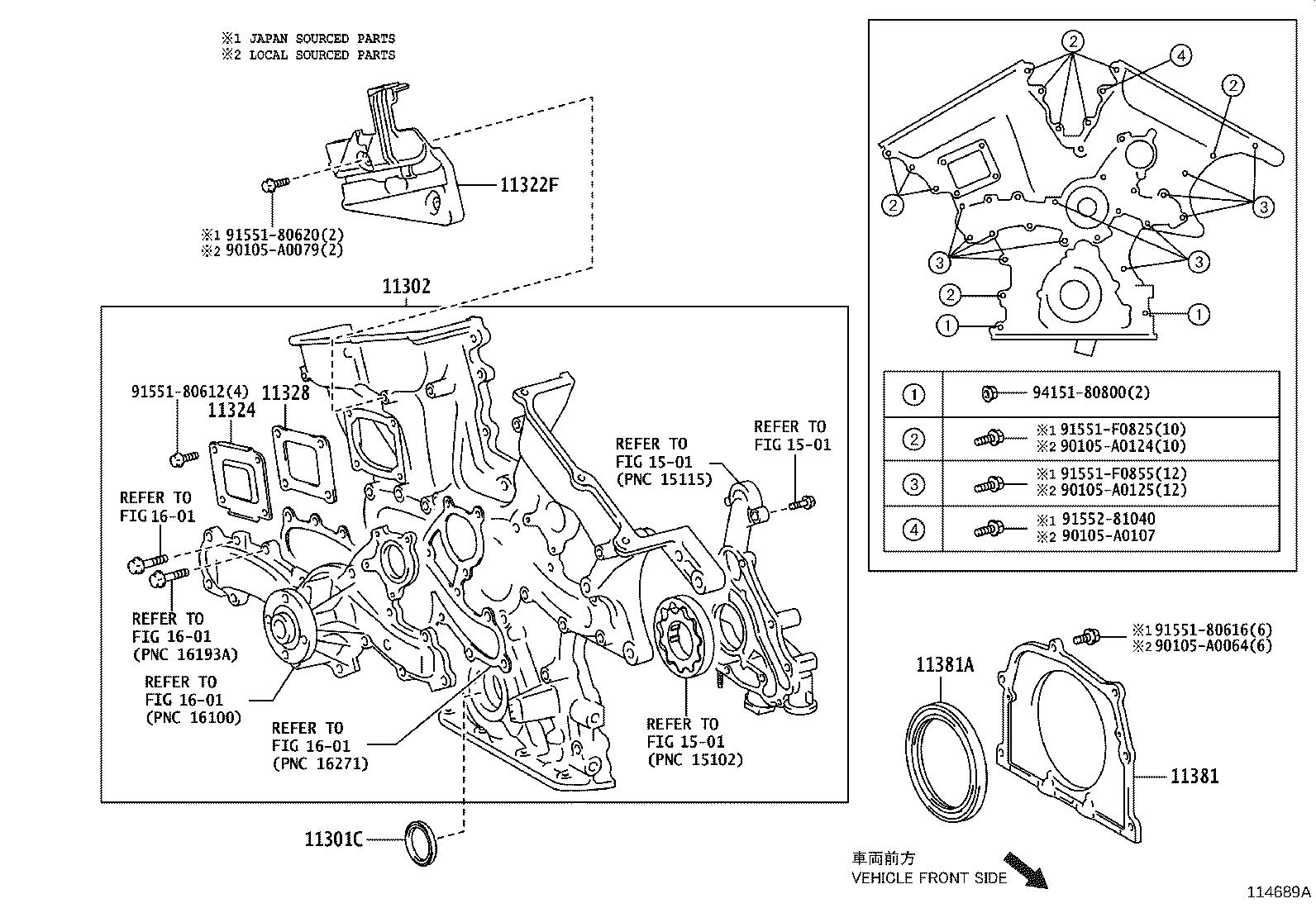 Toyota Sienna Engine Timing Cover Gasket