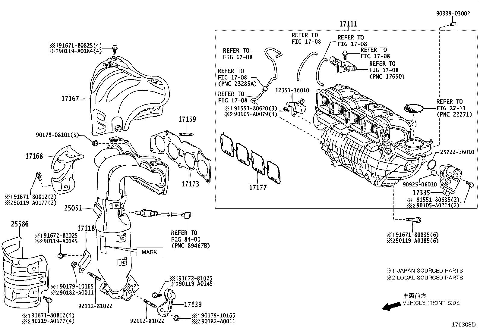 Toyota Venza Manifold Sub Assembly Exhaust Left Engine