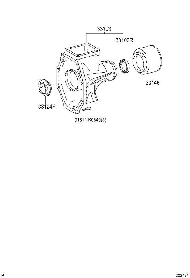 Toyota Tundra Manual Transmission Extension Housing Seal