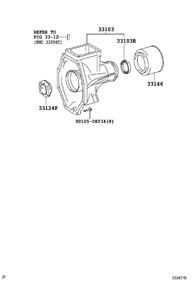 Toyota Tacoma Housing sub-assembly, extension(mtm
