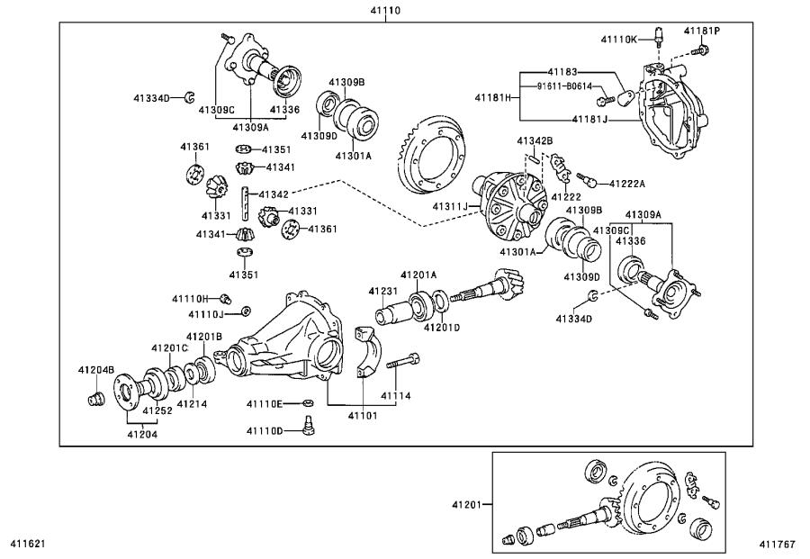 Toyota Sienna Washer, plate (for rear differential drive