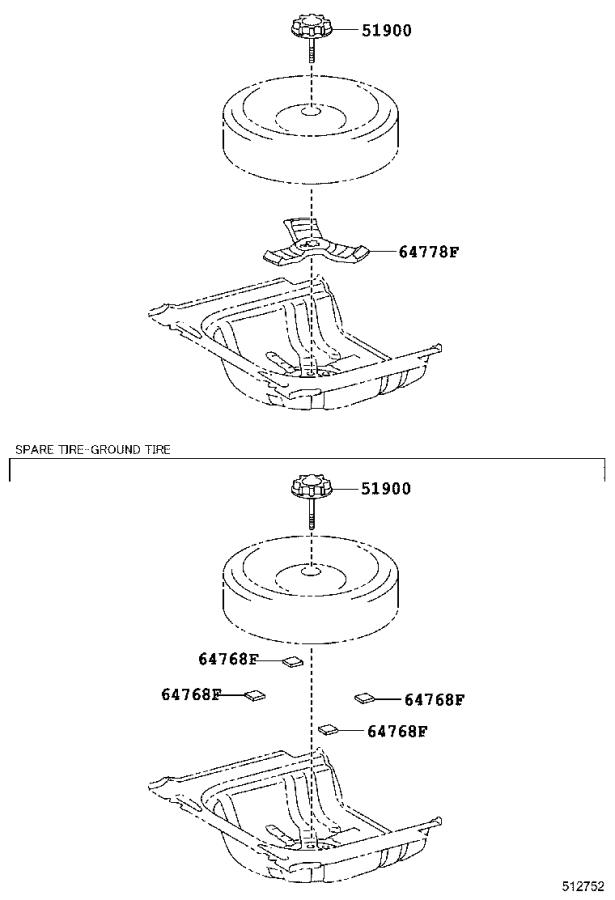 Toyota Camry Stopper, jack cover. Body, interior