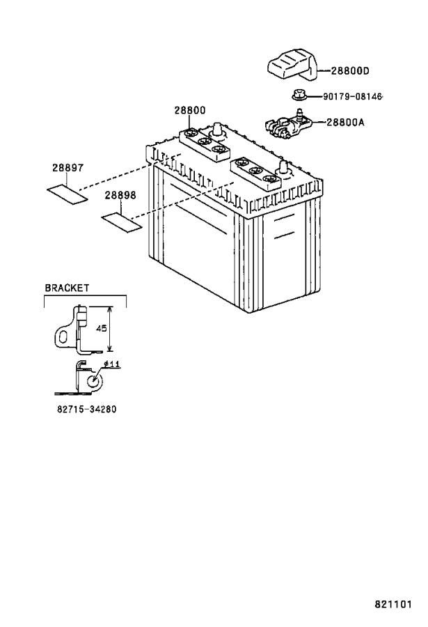 Toyota T100 Cover. Connector; connector(for battery