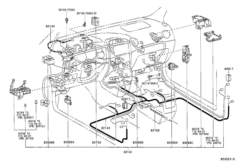 Toyota Corolla Wire, instrument panel. Clamp, engine