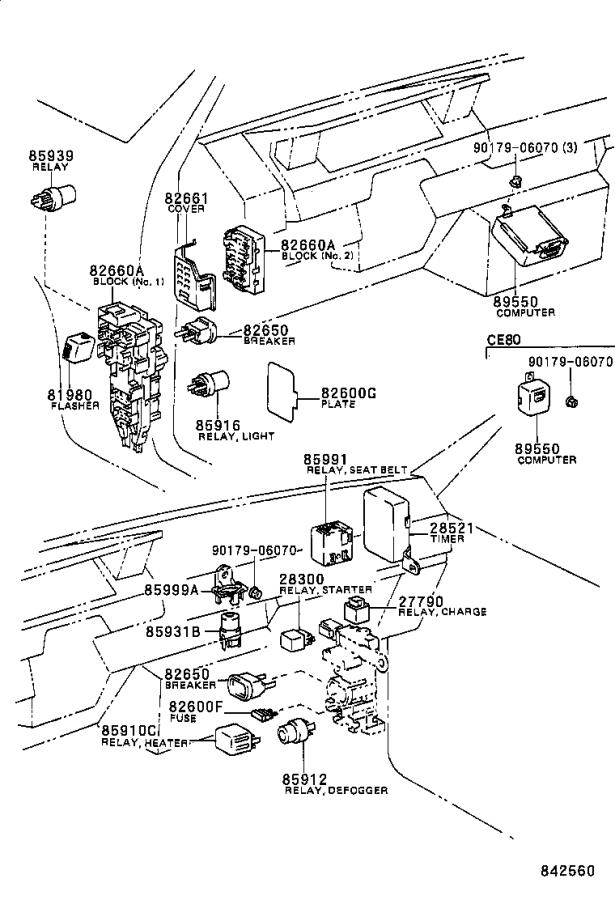 Toyota Corolla Breaker assembly, wiring circuit, no. 1