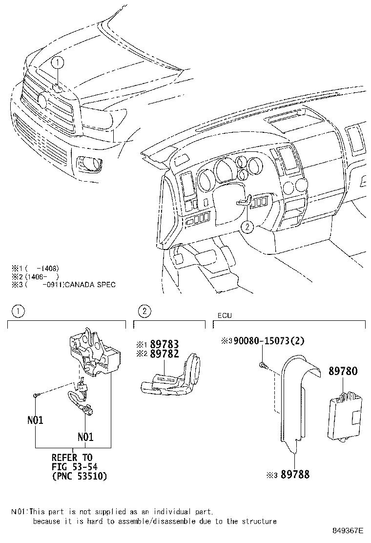 Toyota Sequoia Computer assembly, transponder key