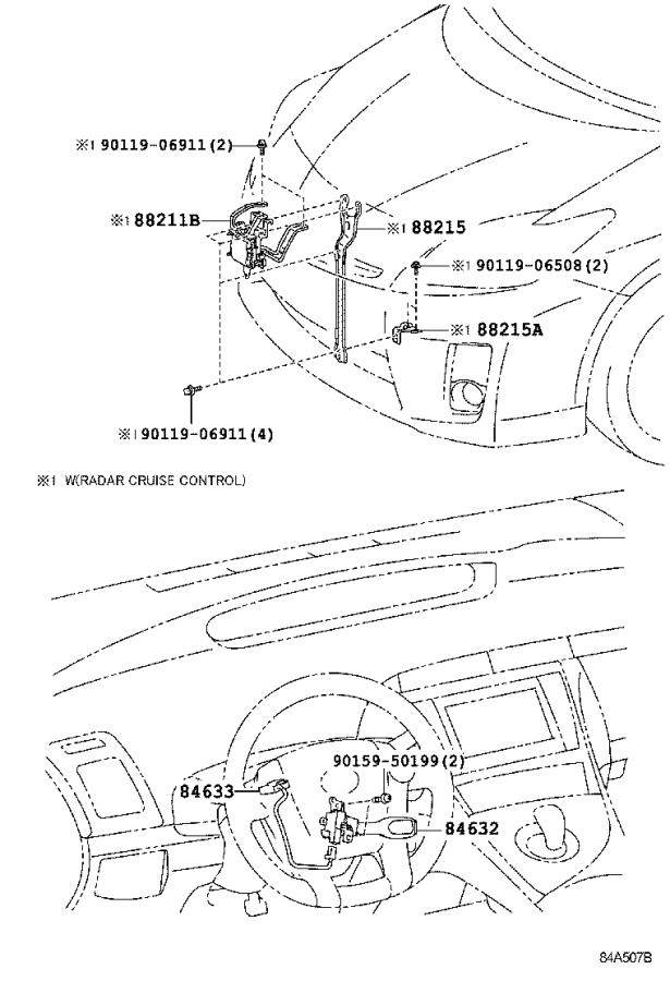 Toyota Prius Wire, cruise control switch. Millimeter