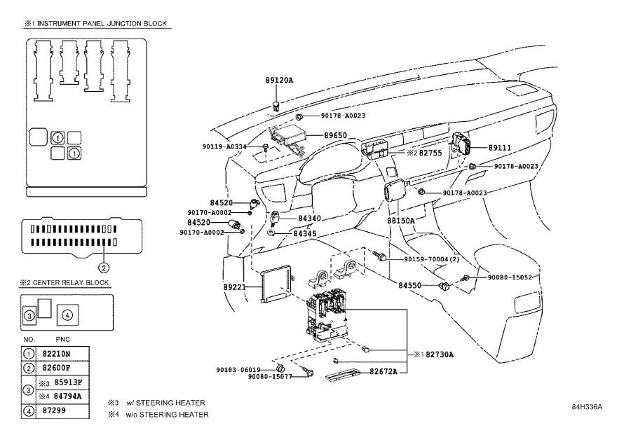 Toyota Corolla Block assembly, driver side junction. Seat
